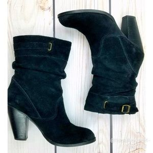 Vintage Zodiac Pandell suede slouch boots 7.5
